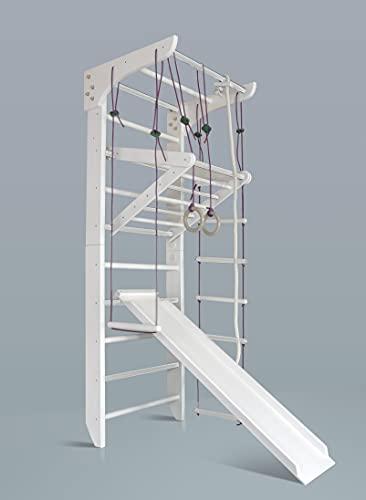 Zweedse ladder - KlimwandKinder-3-240-wit - Kinderen Turnwand Fitness Sportapparaat - EU-OPSLAGPLAATS