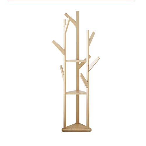 Shui ass Culo Perchero de Madera Maciza Triangular de múltiples Capas, Estante Desmontable de decoración de habitación, Perchero Amarillo multifunción Resistente a la corrosión y Duradero