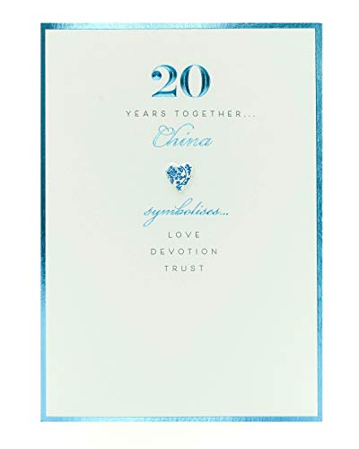20th Anniversary Card - 20 Year Anniversary Card - Anniversary Card for Couple