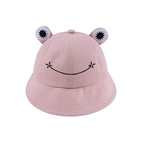 Sombrero de Cubo para Mujer Verano Otoño Llanura Mujer Senderismo al Aire Libre Playa Pesca Gorra Protector Solar Mujer Sombrero para el Sol-Pink-Kids(52-54cm)