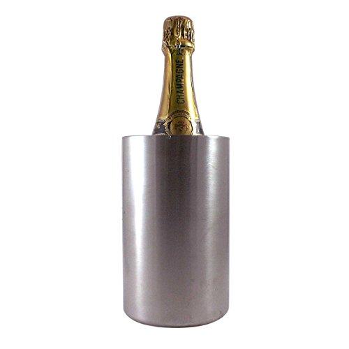 Dimono Flaschenkühler Sektkühler Weinkühler doppelwandig-er Getränkekühler aus Edelstahl
