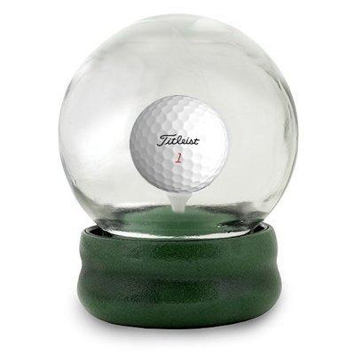 Original Golf Globe Game - Water Globe Golf-Ball-on-The-Tee Challenge - Titleist