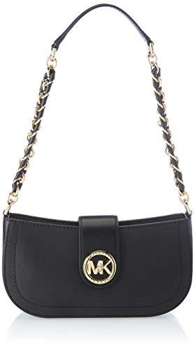Michael Kors Carmen Extra-Small Stuffed Saffiano Leather Shoulder Bag, Bolsa de noche para Mujer, Nerón, Talla única