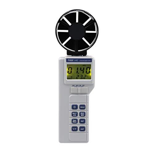 Zcyg Anemometer Wind Speed Meter Digitaler Handwindmesser mit Temperatur-, Feuchtigkeits-, Taupunkt- und Nasskugelmessung for industrielle Wettertests usw.