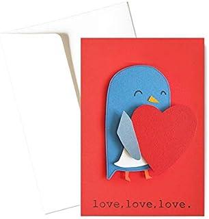 Tenero pulcino - amore - festa degli innamorati - biglietto d'auguri (formato 15 x 10,5 cm) - vuoto all'interno, ideale pe...