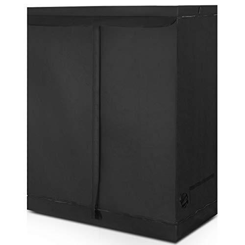 DREAMADE Grow Box Tenda per Coltivazione di Piante, Tenda per Coltivazione Idroponica, Nero (120 x 60 x 150 cm)
