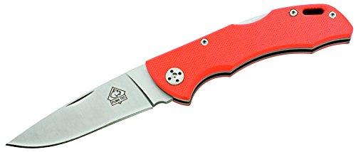 Puma TEC Unisex– Erwachsene Messer Taschenmesser orange G10 Griffschalen Länge geöffnet: 18.3cm, grau, m