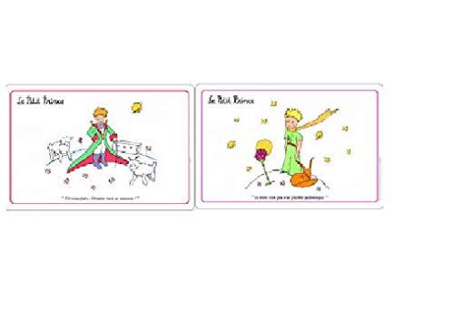 Le petit prince - Lot de 2 Sets de Table La Fleur, et Le Renard & Les Moutons - 45x30cm