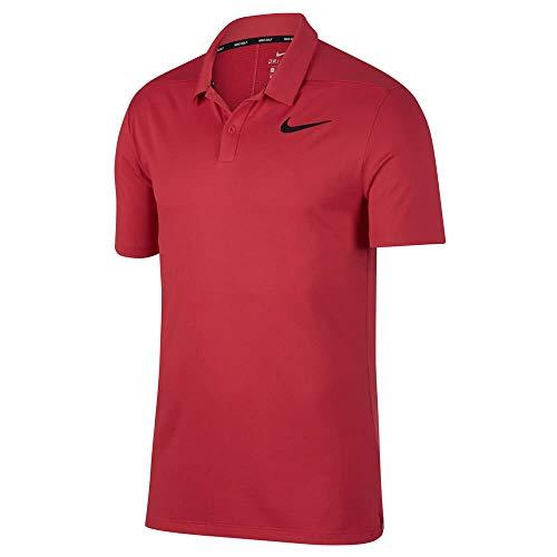 Nike Damen Kurzärmliges Laufshirt Miler Crew Top, Hyper red/Reflective silv, S, 519829-659