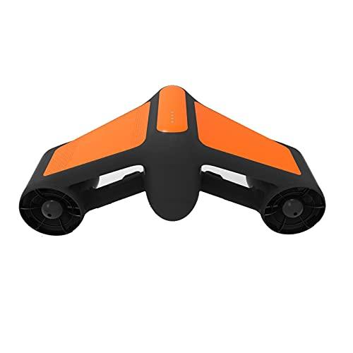 WMB Scooter Subacqueo Elettrico, Supporto per Fotocamere Sportive, Motorino Doppio Motorino, Immersioni Subacquee, Nuoto, Snorkeling, Avventura, Booster, Trimone,A