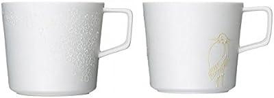 有田焼 匠の蔵 ティーマグカップ 22.SHIROZAKURA(白桜) 26.SHIRASAGI(白鷺) セット
