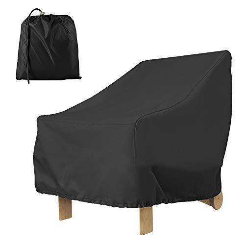 Maalr Terrazza Copertura per Sedie, Anti Polvere Anti-UV Impermeabile Copertura per Mobili Sedia Divano Tavolo Protettore per All'aperto Giardino Terrazza Sedie Pranzo (210D Nero)