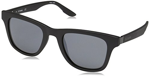Columbia Men's by The Bluff Square Sunglasses, Matte Black, 50 mm