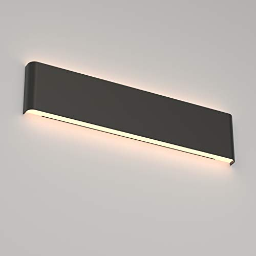 Aipsun 20W/24in Rectangular LED Black Modern Wall Sconce...