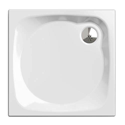 Piatto doccia, rettangolare 80 x 80 cm | Nordona® SIMPLEX PLUS| Set completo compreso Siphone Viega Tempoplex | costruzione stabile, di alta qualità