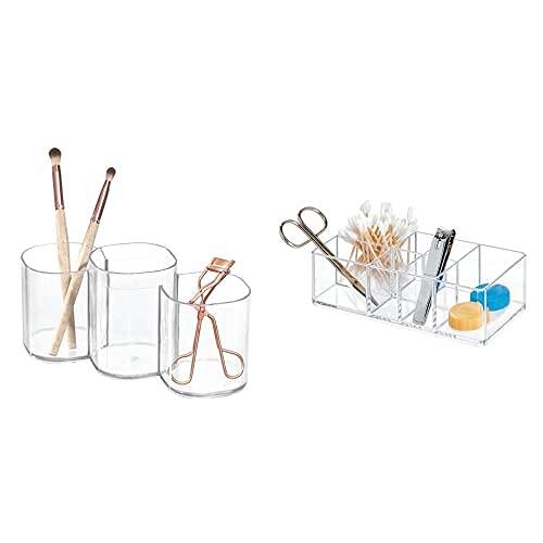 iDesignInterdesign Clarity Organizador De Maquillaje, Caja con Compartimentos Redondos En Plástico +...