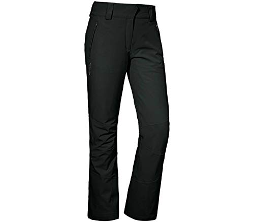 Schöffel W Ski Pants Davos2 Schwarz, Damen Primaloft Hose, Größe 42 - Farbe Black