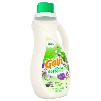 Gain Botanicals Plant Based Liquid Fabric Softener, White Tea & Lavender, 44 Fluid Ounce