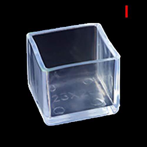 4 unids/set silla tapas de pierna de goma pies protector almohadillas muebles cubiertas cubiertas de calcetines tapones de agujero polvo tapa de polvo muebles nivelando pies (Size : 20x20mm)