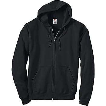 Hanes Men s Full-Zip Eco-Smart Hoodie Black Large