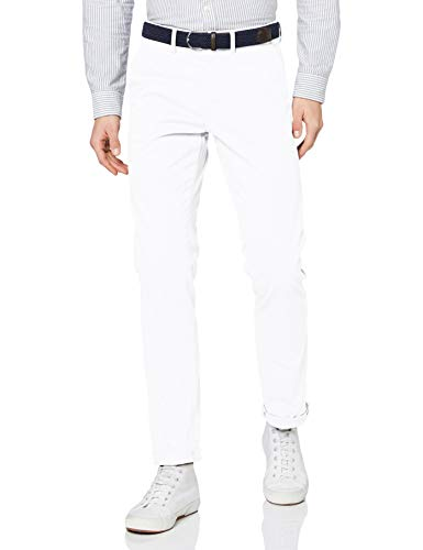 Celio POBELT Pantalon, Blanc (Blanc Blanc), W36/L34 (Taille fabricant:46) Homme