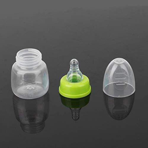 Celerhuak Stillflaschen 60ML für Babys, Stillsaft Milchhärteflasche Tragbare, praktische Mini-Zufuhrflaschen