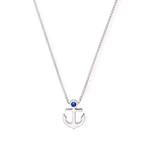 Alex and Ani Path of Symbols Adjustable Necklace for Women, Anchor Pendant, 925 Sterling Silver, 15 to 18 in
