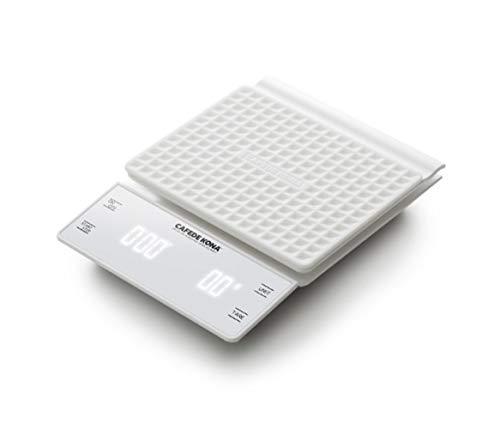 DIRUIDA Küchenwaage Digital Hohepräzision,Handgebrühter Kaffee Elektronische Waage Backelektronik Namens Bar Küche Lebensmittelwaage Mit Zeitgesteuerten 0,5 G / 3 Kg