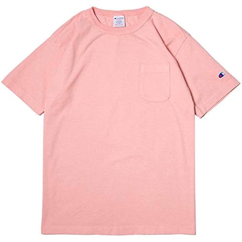ご飯カーテン収まるチャンピオン Tシャツ メンズ CHAMPION T1011 ポケット付き US Tシャツ 19SS MADE IN USA ローズ