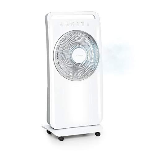 Klarstein Wildwater 2-in-1-Standventilator, Ventilator & Luftbefeuchter, 3690 m³/h Luftdurchsatz, autom. Rotation, Ultraschall-Luftbefeuchter: 1100 ml/h, 11