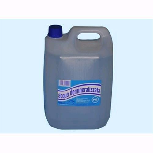 Acqua deionizzata demineralizzata inodore Lt. 5 Conf. 4 Pz
