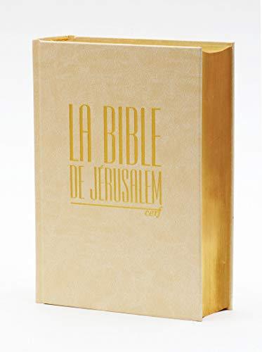 La Bible de Jérusalem - Compacte blanche dorée