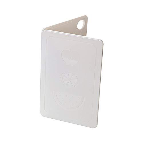 FFZH Tabla de Cortar, Tabla de Cortar de Paja de Trigo, Tabla de Cortar antimoho para el hogar, Tabla de Cortar Fruta 200 * 125 * 8 mm,Blanco