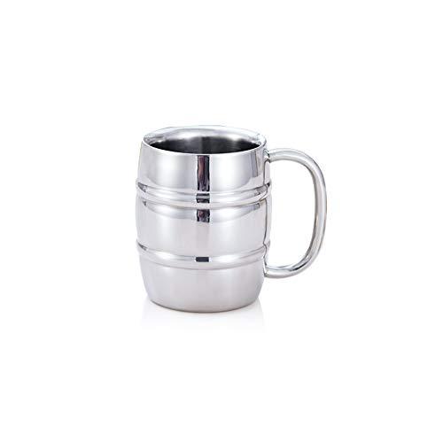MIAO. Drinkbekers -Dubbele muur ontwerp, Bierglas roestvrij staal, Thee Beker, Thee/bier/Koffie/Latte Cup