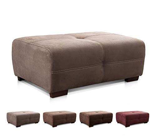 Cavadore Hocker Mavericco / XXL Sitzbank in Lederoptik / Industrial Style / Passend zu Big Sofa und Ecksofa Mavericco / 108 x 71 x 41 cm (BxHXT) / Mikrofaser Hellbraun