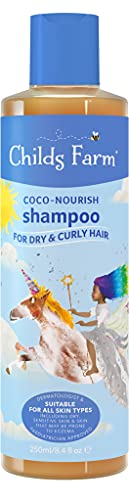 Childs Farm - Coco-Nourish Shampoo for Dry, Curly & Coily Hair, Gently Cleanses, Sensitive Scalp & Skin, 250ml