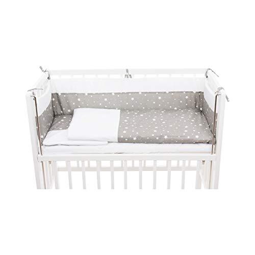 Bornino Home Bettwäscheset Cocon (6-tlg.) - Babybett-Set mit Matratze, Nestchen, Decke, Kissen, Kissenbezug & Deckenbezug - Beistellbett-Zubehör