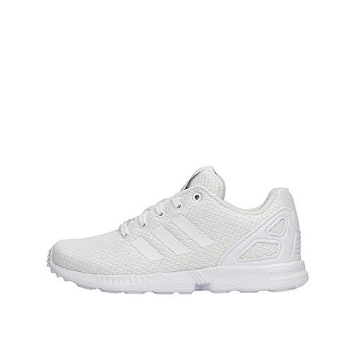 adidas ZX Flux C, Scarpe da Fitness Unisex-Bambini, Bianco (Ftwbla/Ftwbla/Ftwbla 000), 28 EU