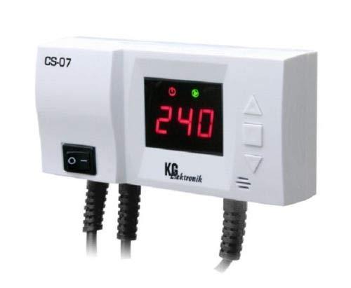 Pumpensteurung Steuergerät CS-07 Steuerung für Umwälzpumpe mit Temperaturanzeige m. Antifrost