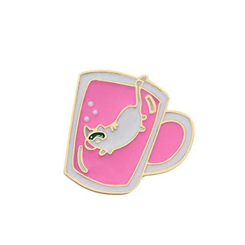 Alfileres de esmalte rosa Flamingo Oveja Alpaca Delfín Animales Broche Insignia Camisa vaquera Pin de solapa para regalo de niña chico