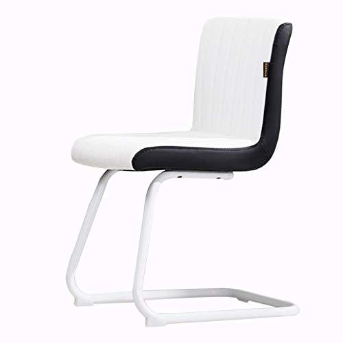 KJHD Silla de Cuero del Ordenador Muebles/Muebles for el Hogar Oficina Oficina cómodo sillón reclinable Estudio Arco Silla for Adultos, Estable Arco del pie (Color : A)