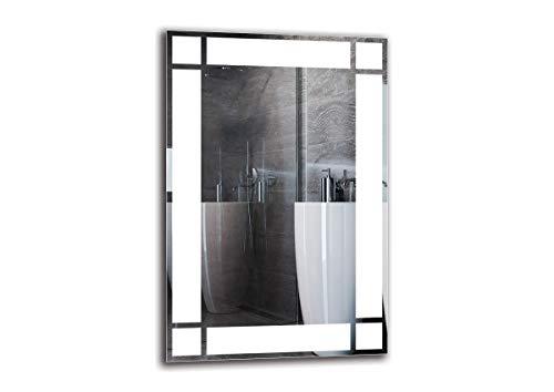 ARTTOR Badspiegel mit Beleuchtung. Bad Dekoration - Wandspiegel Groß und Spiegel Klein mit Led Licht. Unterschiedliche Lichtanordnung und Alle Dimensionen - M1ZP-60-40x60