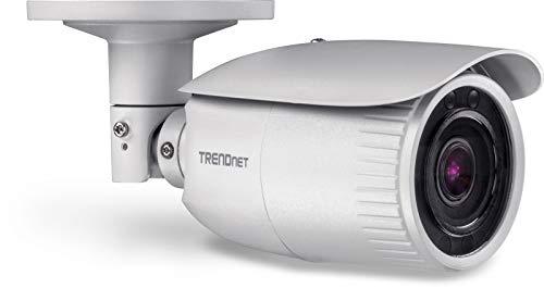 TRENDnet Indoor/Outdoor 4 MP, Motorgesteuerte Varifokal PoE IR-Netzwerkkamera, Auto-Focus, Optischer Zoom, Digital WDR, Nachsicht bis zu 30m (100ft), IP66 Gehäuse, ONVIF, IPv6, TV-IP344PI