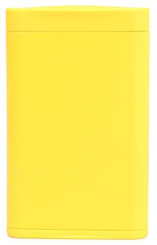 Dreams(ドリームズ) 携帯灰皿 ポケットアッシュトレイ スリム ハニカム 4本収納 イエロー MDL45289 高さ7.9cm×幅5.0cm×厚さ1.4cm