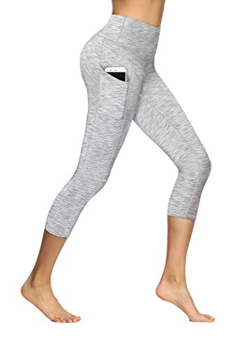 Fengbay High Waist Yoga Pants, Pocket Yoga Pants Tummy Control Workout Running 4 Way Stretch Yoga Leggings