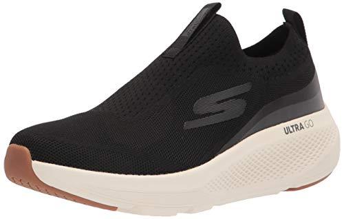 Skechers mens Gorun Elevate - Slip on Performance Athletic & Walking Running Shoe, Black/White, 8.5 US