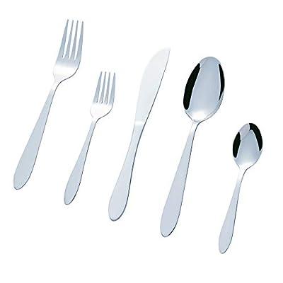 Bon Elegance 40-Piece Stainless Steel Flatware Silverware Cutlery Set, Include Knife/Fork/Spoon, Dishwasher Safe, Service for 8
