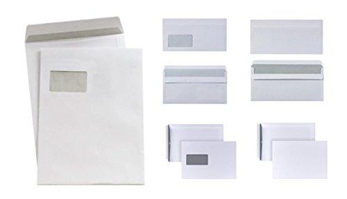 125-teiliges Briefumschlag SET DIN Lang C4 C5 Versandtasche Haftklebung mit und ohne Fenster