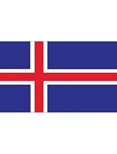 "TrendClub100® Fahne Flagge ""Island Iceland is"" - 150x90 cm / 90x150cm"