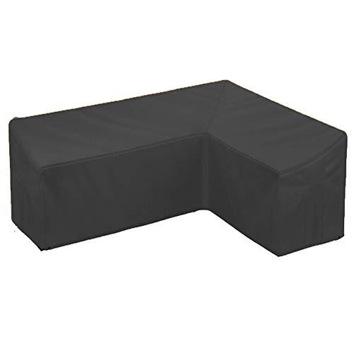 Funda Exterior Sofá Terraza Impermeable, Tipo V Cubierta De Sofá Muebles Jardín, 210D Oxford contra Polvo, para Muebles De Jardín Mesas Y Sillas Al Aire Libre,300x300x78cm/9.8x9.8x2.5ft
